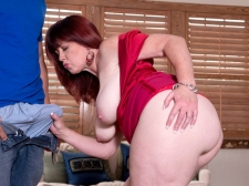 Heather's Butt Meets Rock hard Cock