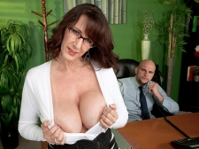 Fucking the monster titted MILF who's wearing glasses
